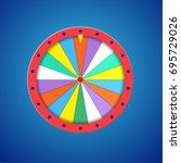 wheel of fortune isolated   Shutterstock .eps vector #695729026