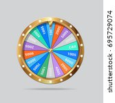 wheel of fortune isolated | Shutterstock .eps vector #695729074