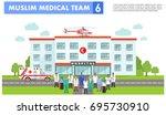 medical concept. detailed... | Shutterstock .eps vector #695730910