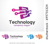 technology logo template design