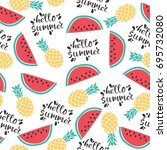 seamless vector pattern with... | Shutterstock .eps vector #695732080