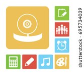 optometrist. icon. | Shutterstock .eps vector #695734039