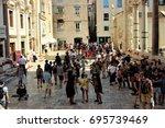 croazia  croatia   august 2 ... | Shutterstock . vector #695739469