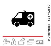 ambulance icon. vector... | Shutterstock .eps vector #695742550