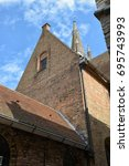 st. salvator's cathedral in... | Shutterstock . vector #695743993