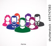 friendship icon. people  icon... | Shutterstock .eps vector #695747083