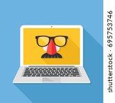 internet privacy  online...   Shutterstock .eps vector #695753746