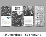 flyers set  modern banners.... | Shutterstock .eps vector #695755243