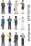 business team and teamwork... | Shutterstock .eps vector #695755738