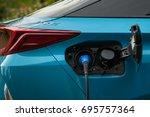 Charging Hybrid Plug In Car.
