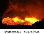 masaya volcano lava lake | Shutterstock . vector #695764936