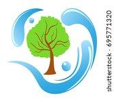 tree water logo | Shutterstock .eps vector #695771320