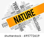 nature word cloud collage ... | Shutterstock .eps vector #695772619
