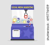 social media marketing... | Shutterstock .eps vector #695776459