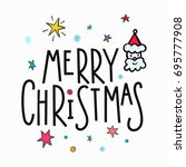 merry christmas happy new year... | Shutterstock .eps vector #695777908