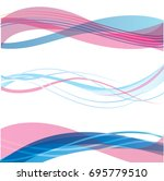wave blue and pink lines... | Shutterstock .eps vector #695779510