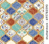 seamless colorful patchwork in...   Shutterstock .eps vector #695783590
