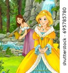 cartoon princes and other young ... | Shutterstock . vector #695785780