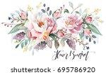 flower bouquet | Shutterstock . vector #695786920