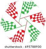 race flag various designs ...   Shutterstock .eps vector #695788930