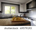Modern House  Kitchen With The...