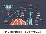 horizontal banner with... | Shutterstock .eps vector #695795224
