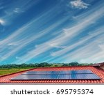 solar panel photovoltaic...   Shutterstock . vector #695795374