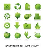 ecology icon set | Shutterstock .eps vector #69579694