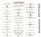 set of hand drawn vintage... | Shutterstock .eps vector #695797810