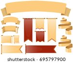 different designs of banners...   Shutterstock .eps vector #695797900