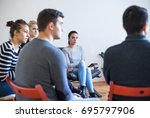 group therapy session  | Shutterstock . vector #695797906