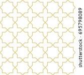 oriental style geometric... | Shutterstock .eps vector #695798089