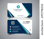 blue bordered business card | Shutterstock .eps vector #695798233