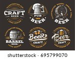 set beer logos   vector... | Shutterstock .eps vector #695799070