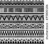 black and white tribal vector... | Shutterstock .eps vector #695800186