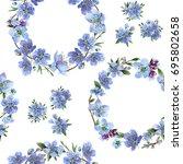 wildflower cherry flowers... | Shutterstock . vector #695802658