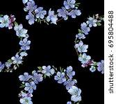 wildflower cherry flowers... | Shutterstock . vector #695804488