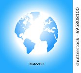 save the planet earth card.... | Shutterstock .eps vector #695808100