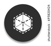 modeling icon | Shutterstock .eps vector #695820424