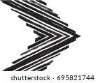 black and white vector... | Shutterstock .eps vector #695821744