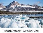 arctic landscape | Shutterstock . vector #695823928