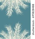 tropical design with vanilla... | Shutterstock .eps vector #695828488