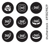 angle 360 degrees sign icons.... | Shutterstock .eps vector #695829829
