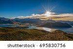 lake wanaka and mt aspiring ... | Shutterstock . vector #695830756