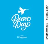 international peace day card.... | Shutterstock .eps vector #695831554