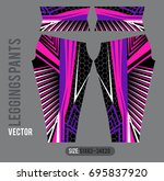 leggings pants fashion vector... | Shutterstock .eps vector #695837920
