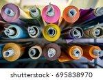 color vinyl rolls | Shutterstock . vector #695838970