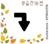 web line icon. arrow right  ...   Shutterstock .eps vector #695842558