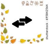 web line icon. arrows right  ...   Shutterstock .eps vector #695842564