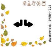 web line icon. arrows  down...   Shutterstock .eps vector #695844328